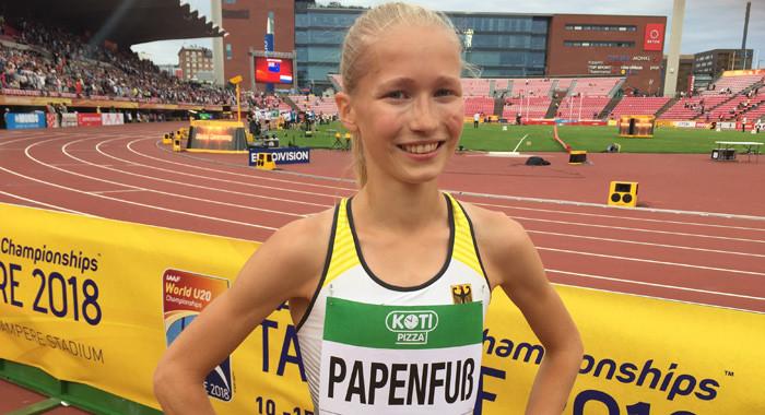 Josina Papenfuß rennt mit Riesen-Steigerung auf Rang 13