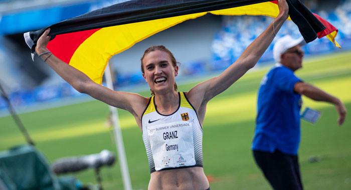 Caterina Granz vergoldet Universiade-Abschluss