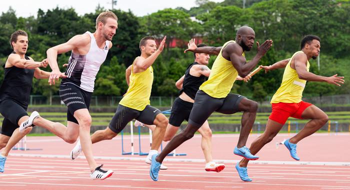 4x200 Meter: Deutsche Männer sprinten zu Bronze, Frauen Fünfte
