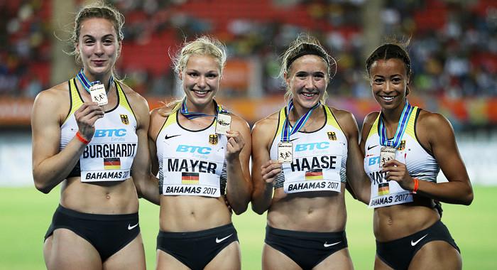 Sensations Gold Für Deutsche 4x100 Meter Sprinterinnen Das